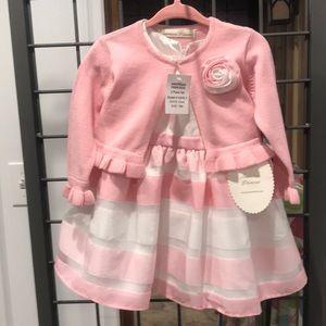NWT American Princess Pink Dress & Jacket Set